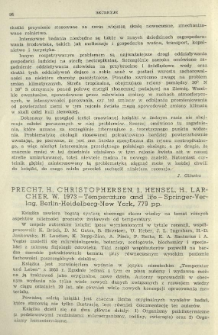 Precht, H., Christophersen, J., Hensel, H., Larcher, W. 1973 - Temperature and life - Springer-Verlag, Berlin-Heidelberg-New York, 779 pp.
