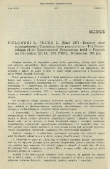 Pielowski Z., Pucek Z. (Eds.), 1976 - Ecology and management of European hare populations - The Proceedings of an International Symposium held in Poznań on December 23-24, 1974, PWRiL, Warszawa, 286 pp.