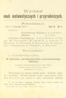 Sprawozdania z Posiedzeń Towarzystwa Naukowego Warszawskiego, Wydział III, Nauk Matematycznych i Przyrodniczych. Rok IX. No 8.