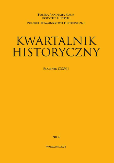 Kwartalnik Historyczny R. 127 nr 4 (2020), Title pages, Contents, List of Abbreviations, Transliteration rules