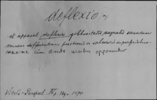 Kartoteka Słownika Łaciny Średniowiecznej; deflexio-demanium