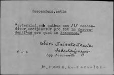 Kartoteka Słownika Łaciny Średniowiecznej; descendens-destitutus