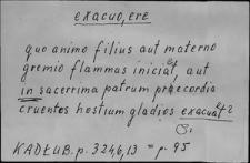 Kartoteka Słownika Łaciny Średniowiecznej; exacuo-exclamo