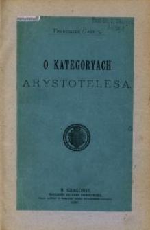 O kategoryach Arystotelesa