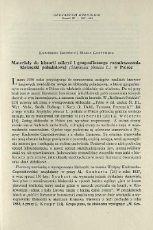 Materials to the history of the geographical distribution of the bladdernut (Staphylea pinnata L.) in poland