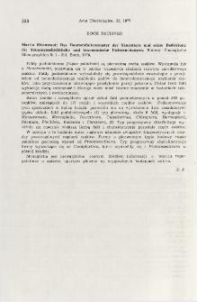 Book received. Das Gaumenfaltenmuster der Säugetiere und seine Bedeuntung für Stammgeschichtliche und taxonomische Untersuchungen