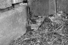 Stodoła z gromadką w ścianie szczytowej