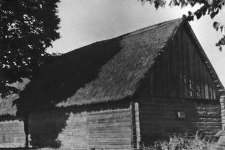 A granary window in a barn