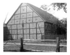 A barn, timber framing