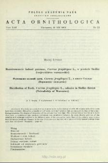 Rozmieszczenie kolonii gawrona, Corvus frugilegus L., w powiecie Siedlce (województwo warszawskie)