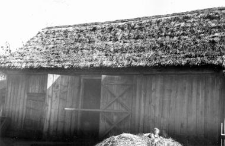 A log structure of an old barn