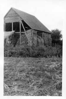 A gable structure in the barn