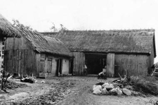 A barn and a pigsty