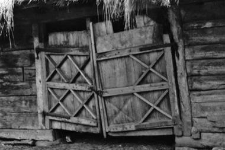 A door of a barn, so-called