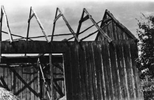 A rafters setting - a half-timbered barn