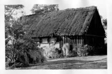 A partly wooden barn