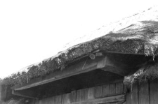 Eaves above a doors of a barn