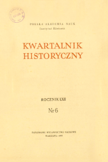 Kwartalnik Historyczny R. 62 nr 6 (1955), Title pages, Contents