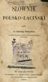 Słownik polsko-łaciński. T. 2, P-Z