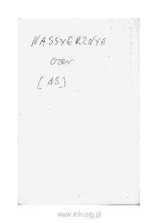 Nassyerzyna. Files of Czersk district in the Middle Ages. Files of Historico-Geographical Dictionary of Masovia in the Middle Ages