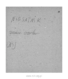 Niesatnik. Files of Czersk district in the Middle Ages. Files of Historico-Geographical Dictionary of Masovia in the Middle Ages