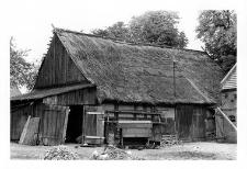 A frame-clay barn