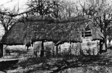 A hipped roof on the barn