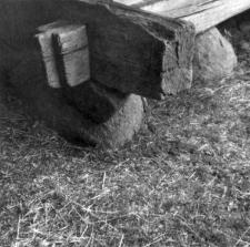 A foundation of a barn