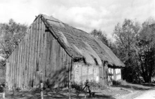 A timber framing barn