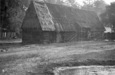 A barn with a building for wagons