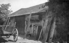 A stone barn, a basement
