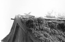 A ridge of a barn
