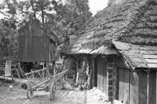 A barn on stilts