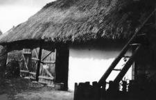 A barn and a house