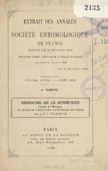Observations sur les Anthoinyiaires (types de Meigen) du Muséum d'Histoire Naturelle de Paris