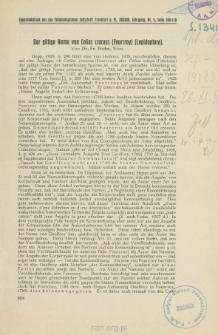 Der giltige Name von Colias croceus (Fourcroy) (Lepidoptera)