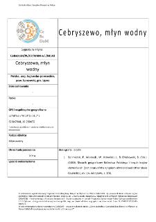 Cebryszewo, watermill