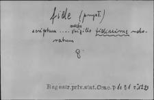 Kartoteka Słownika Łaciny Średniowiecznej; fide - filius