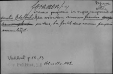 Kartoteka Słownika Łaciny Średniowiecznej; foramen - formosus