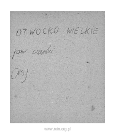 Otwock Wielki. Files of Czersk district in the Middle Ages. Files of Historico-Geographical Dictionary of Masovia in the Middle Ages