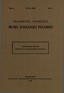 Materjały do fauny malakozoologicznej Wileńszczyzny = Beiträge zur Molluskenfauna der Provinz Wilno in Polen