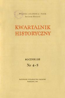 Kwartalnik Historyczny R. 62 nr 4-5 (1955), Streszczenia