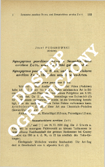 Sympycna paedisca Brau. i Somatochlora arctica Zett., nowe dla Polski gatunki ważek = Sympycna paedisca Brau. und Somatochlora arctica Zett., für Polen neue Libellen-Arten