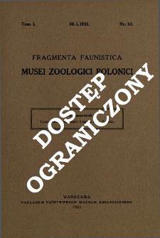 Tyzenhauza spis ptaków i ssaków Ziem Polskich = Über Tyzenhauz's Katalog der in Polen vorkommenden Vögel und Säugetiere
