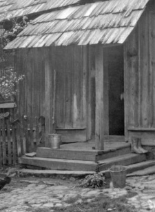 Porch, log cottage