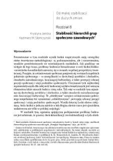 Stabilność hierarchii grup społeczno-zawodowych
