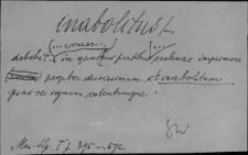 Kartoteka Słownika Łaciny Średniowiecznej; inabolitus - incitus