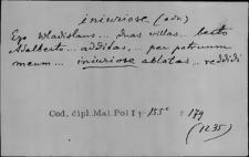 Kartoteka Słownika Łaciny Średniowiecznej; iniuriose - inscriptionalis