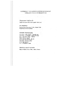 Modele i decyzje : ekonomia, ochrona środowiska, medycyna, technika, systemy walki : [materiały II krajowej konferencji badań operacyjnych i systemowych w Warszawie, 23-25 kwietnia, 1991 r.] * Modelowanie w ochronie środowiska * RSI-regionalny system informacyjny