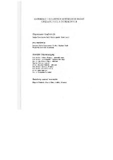 Modele i decyzje : ekonomia, ochrona środowiska, medycyna, technika, systemy walki : [materiały II krajowej konferencji badań operacyjnych i systemowych w Warszawie, 23-25 kwietnia, 1991 r.] * Modelowanie w medycynie i technice * Identyfikacja układu moczowego człowieka
